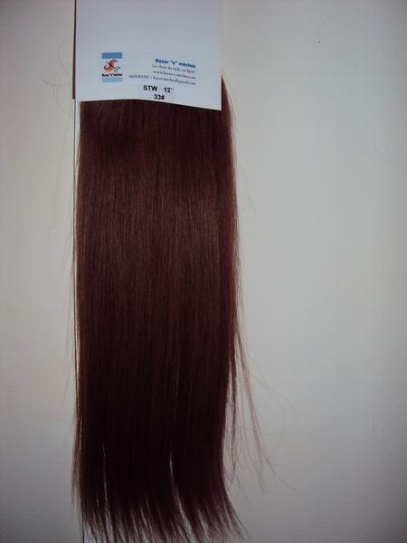 Extension cheveux couleur acajou