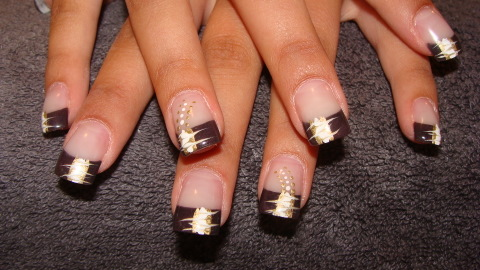 deco ongles marron