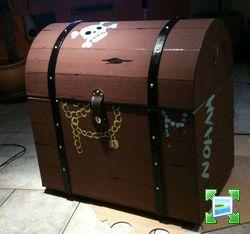 coffre de pirate en carton pour mon neveu forum manucure nail art et ongle. Black Bedroom Furniture Sets. Home Design Ideas