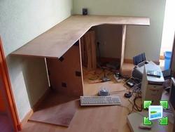 Mon dernier projet en carton bureau d 39 angle forum manucure - Fabriquer bureau d angle ...