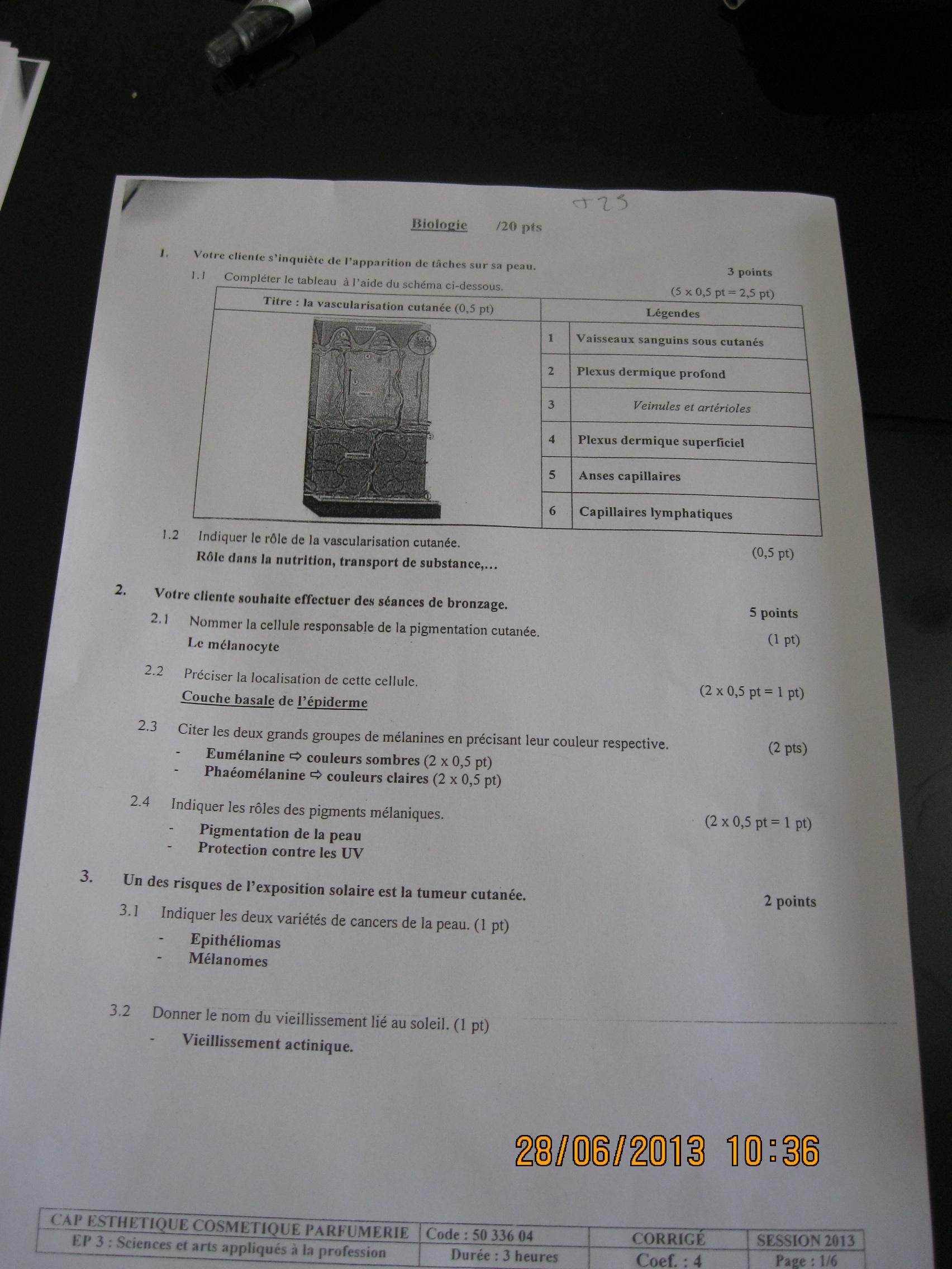 Sujet examen 2013 art appliques bio page 7 forum manucure for Sujet examen cap cuisine corrige