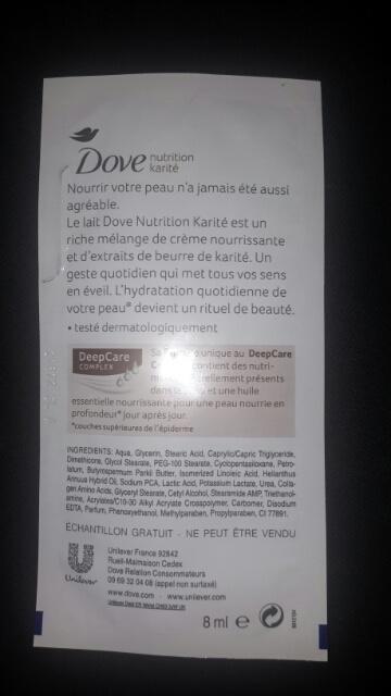 Lait pour le Corps –Nutrition Karité de Dove