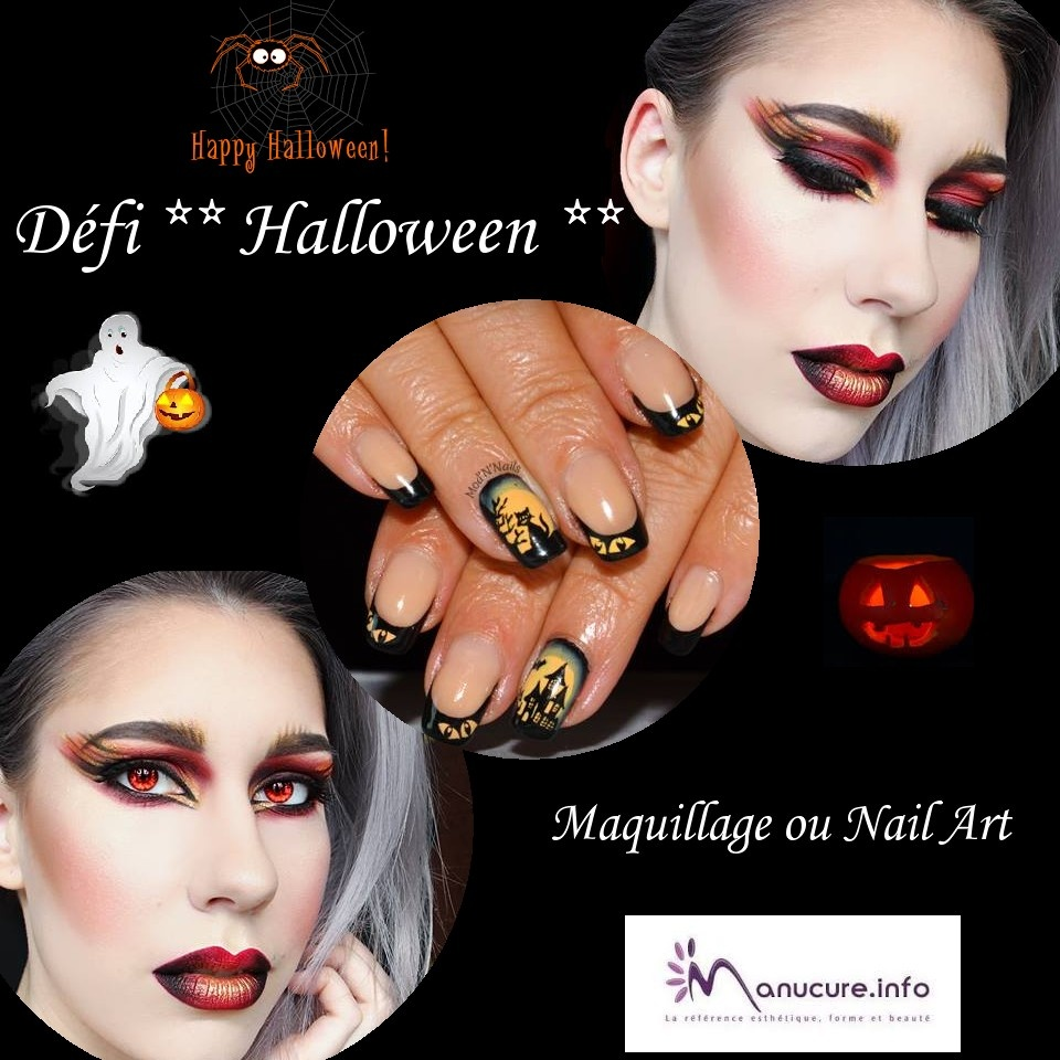 Défi HALLOWEEN - Maquillage , ongles