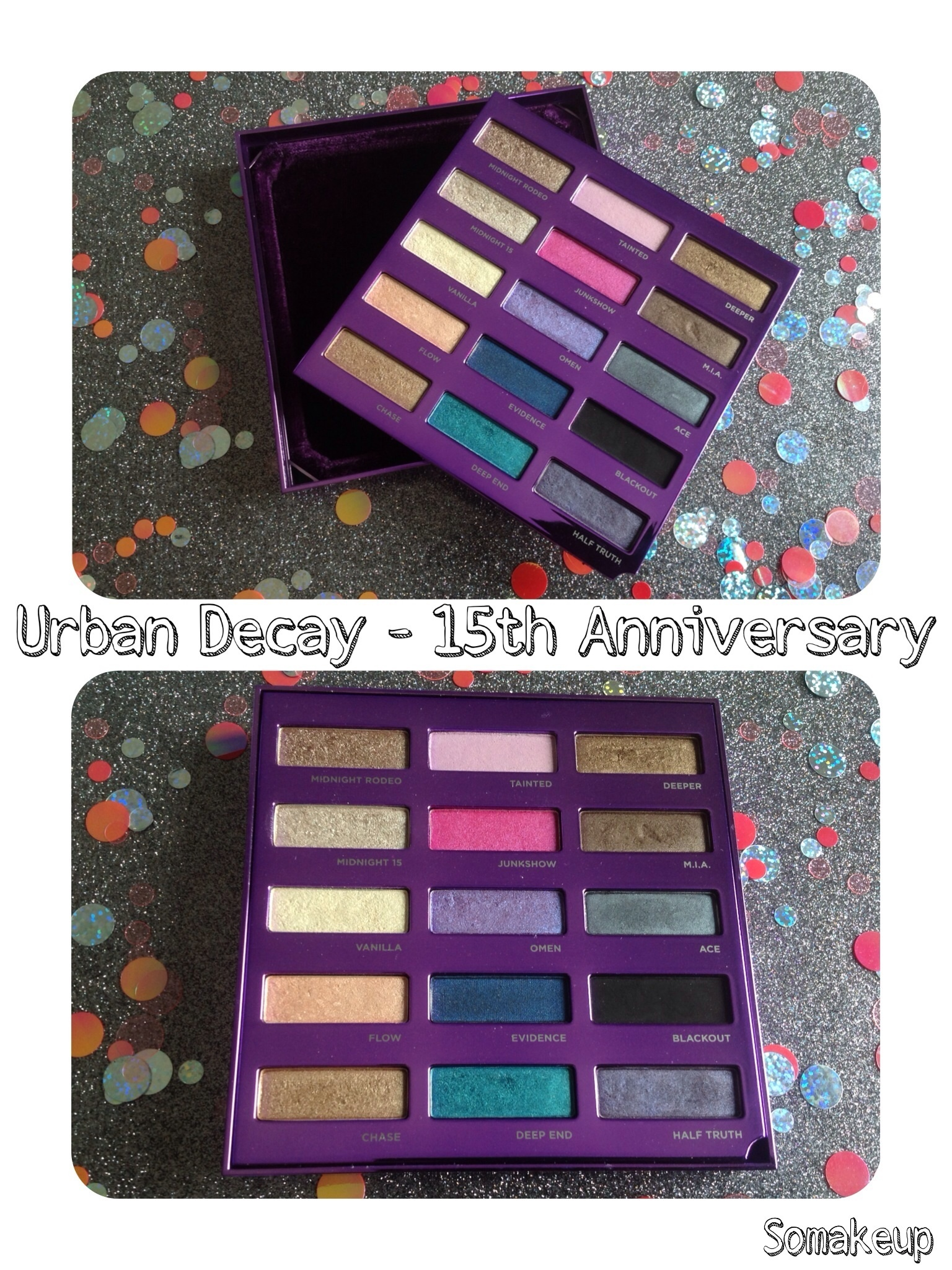 15 Year Anniversary Eyeshadow Collection de Urban Decay