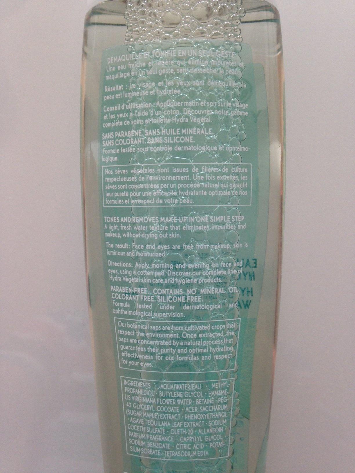 mode d'emploi hydra vegetal.JPG de Eau Micellaire Hydratante 2 en 1 - Hydra Végétal d'Yves Rocher