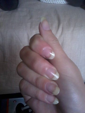 Gainage ongles naturels french & petite déco