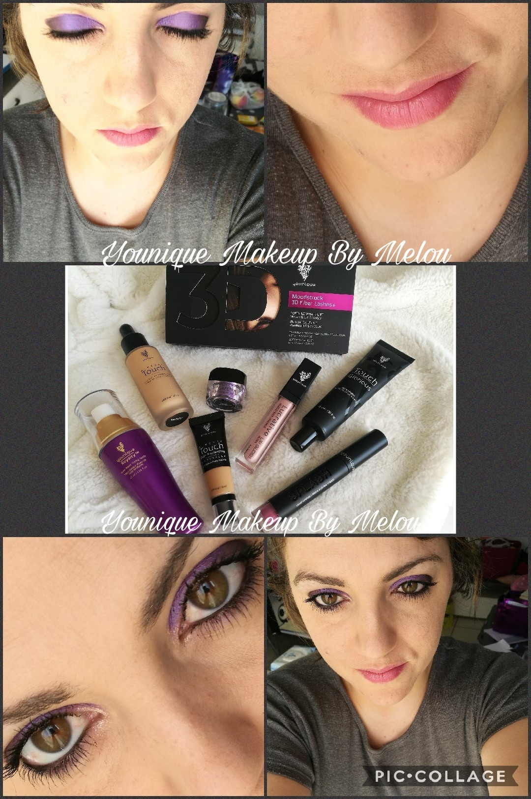 Photos maquillage partagées sur la page Facebook du forum