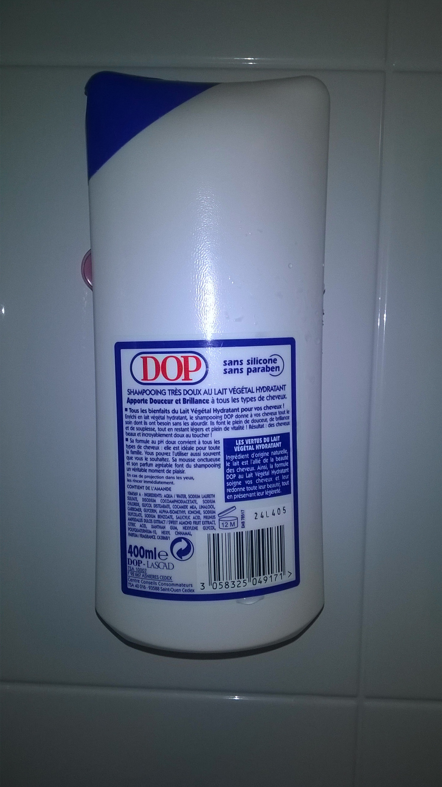 Shampooing Très Doux - au Lait Végétal de Dop