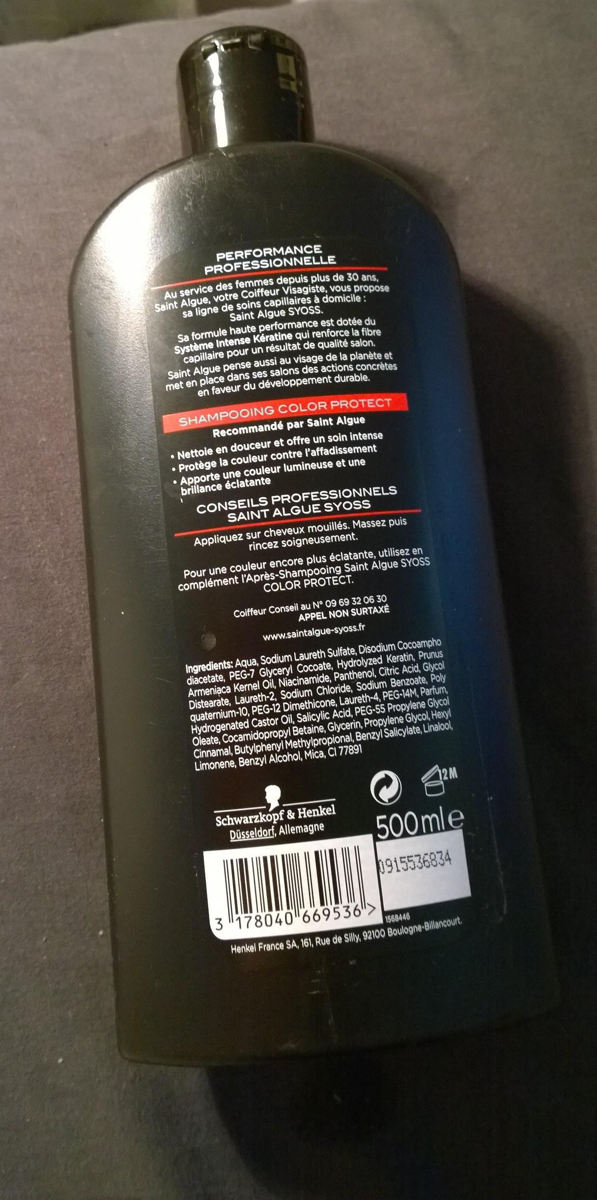 Shampooing Color Protect de Saint Algue Syoss